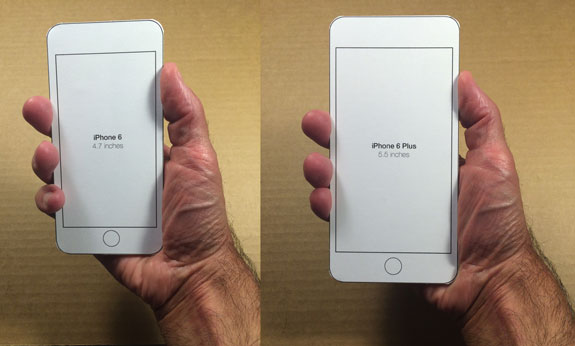 iPhone 6 sizing templates for printing