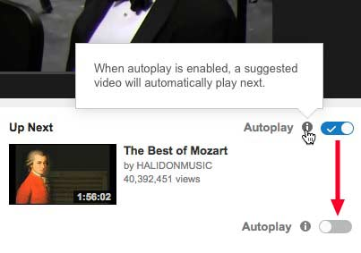 How to turn off YouTube's Autoplay of Suggested Videos