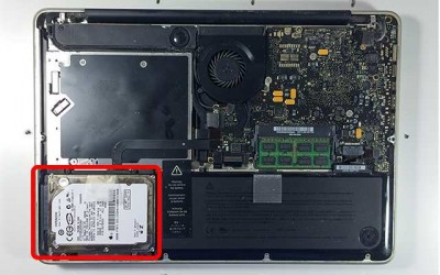 Remove the hard drive before recycling your MacBook computer