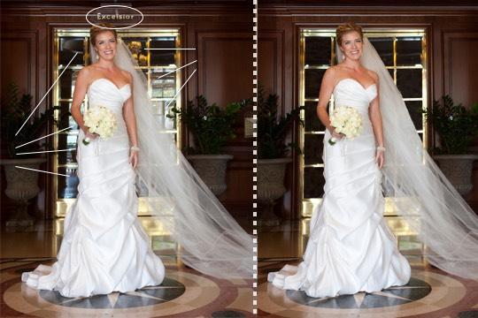 Bridal retouching